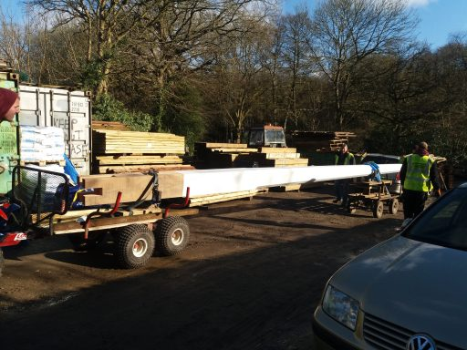 Haslemere St Christophers flagpole arrives